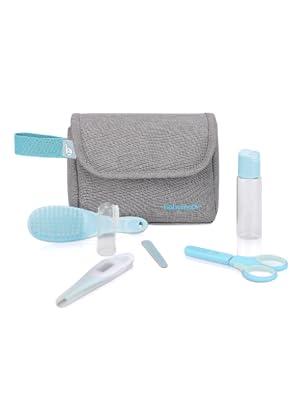 Babymoov A032003 Neceser de cuidados del bebé, 6 accesorios, con termómetro digital para bebés, Gris, Set 1: Amazon.es: Bebé