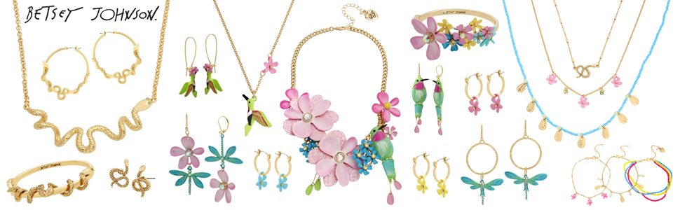 Betsey Johnson jewelry from the exotic nursery collection