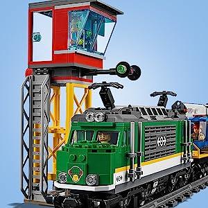 City, train, LEGO