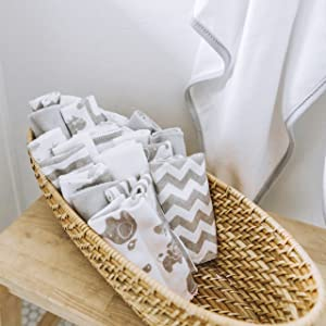washcloth texture terry grey animals chevron stripes basket bathroom folded gentle soft