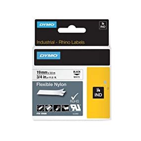 DYMO RhinoPRO etiquetas de nailon industriales flexibles y autoadhesivas