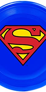 Superman Clark Kent Logo Shield Man of Steel Frisbee Beach Toy Fetch Catch Dog Pet
