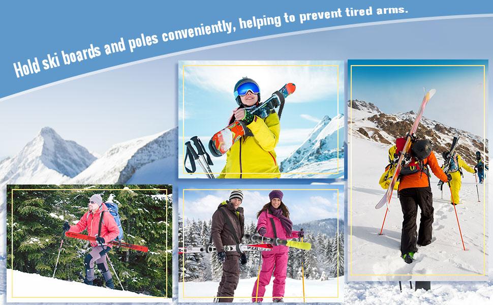 2 Stü Verstellbare Nylon Ski Schulter Träger Wimpern Griffbänder Bandage