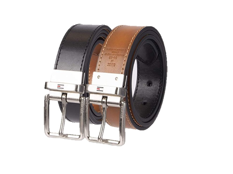 tommy hilfiger reversible mens leather belt