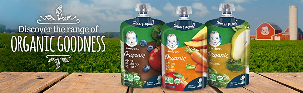 Discover the range of organic goodness from Gerber
