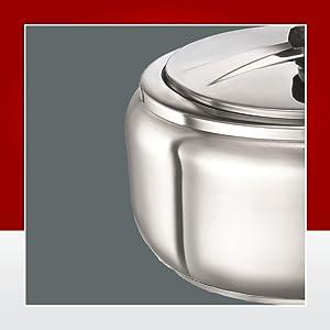 Prestige Stainless Steel Pressure Cooker, 3.5 Liters,Silver