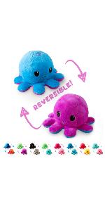 reversible octopus plush