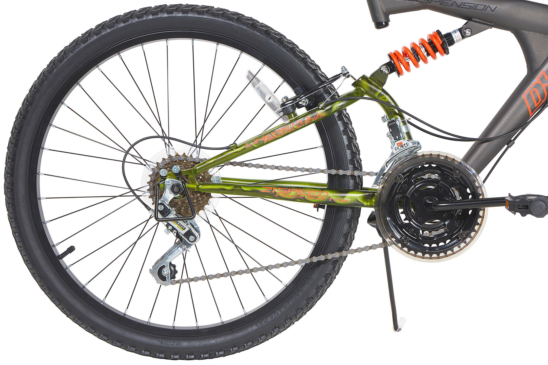 52d4c5d3eaf Amazon.com : Dynacraft Gauntlet Boys' Dual Suspension 21-Speed Bike ...