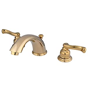 Polished Chrome KINGSTON Brass KB961PX Two Handle Widespread Lavatory Faucet with Abs//Brass Pop-Up