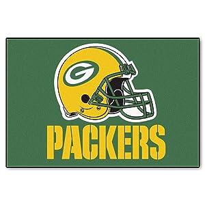 5886c892 FANMATS NFL Green Bay Packers Vinyl Grill Mat
