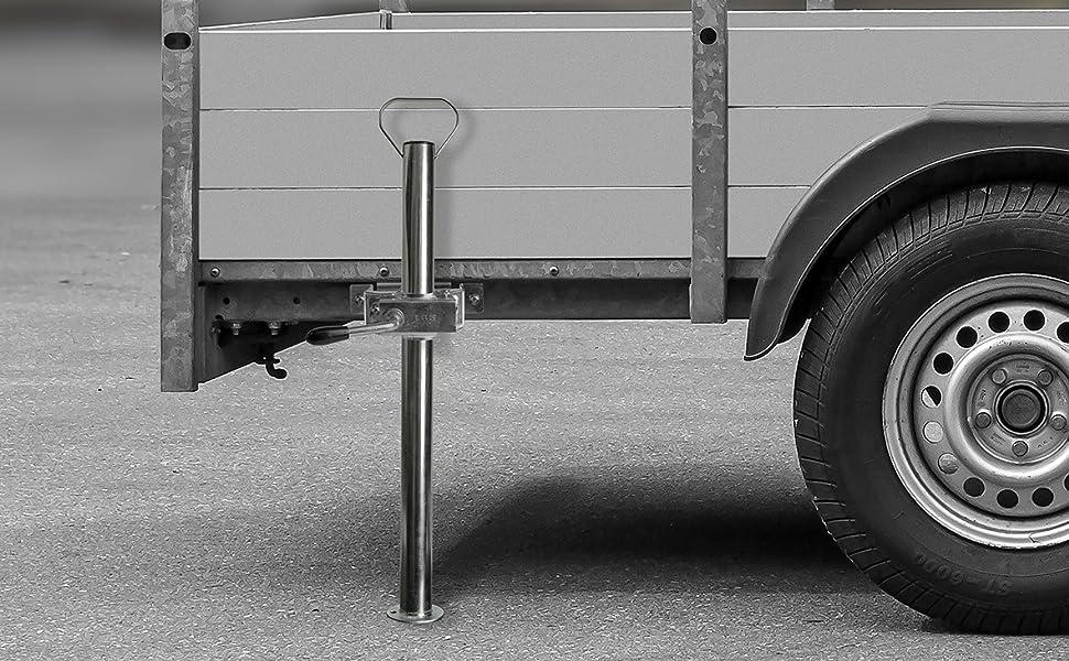 Las 10628 Abstellstütze Mit Handgriff Inkl Halter Mit Knebelfeststeller 48 X 700 Mm Auto