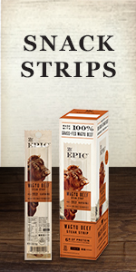 EPIC grass fed meat strips box