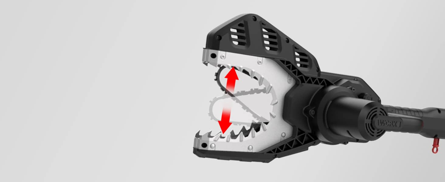The unique blade housing makes the Jaw Saw the safest chainsaw on the market. What's more, the blade