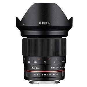 Rokinon 20mm F1.8 Full Frame Wide Angle Prime Lens