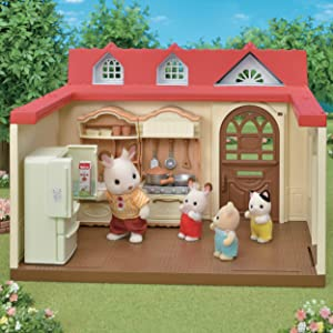 critter, kitchen, table, dollhouse furniture, lil woodzeez, collectible, dolls, figures, accessories