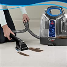 portable carpet cleaner, carpet shampooer, stain remover. pet, cleaning formula