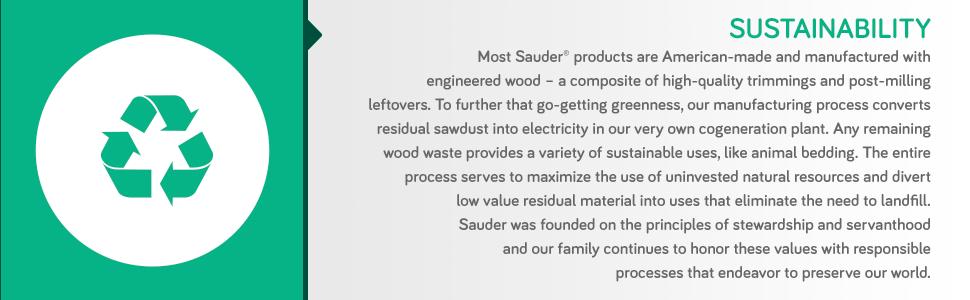 Amazon.com: Sauder Adept Credenza, Material Reciclado ...