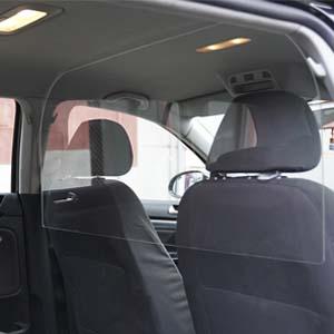 Mampara de Protección | Material PET | Transparente | Modelo Driver | Indicado para Taxis - MONOVOLUMEN| Fácil Montaje | Sujeción con Bridas | 3 mm de Grosor | 135 x 70 cm: Amazon.es: Oficina y papelería