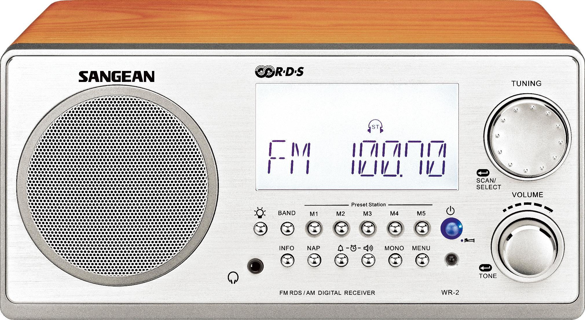 WR 2 FM RBDS AM Wooden Cabinet Digital Tuning Radio