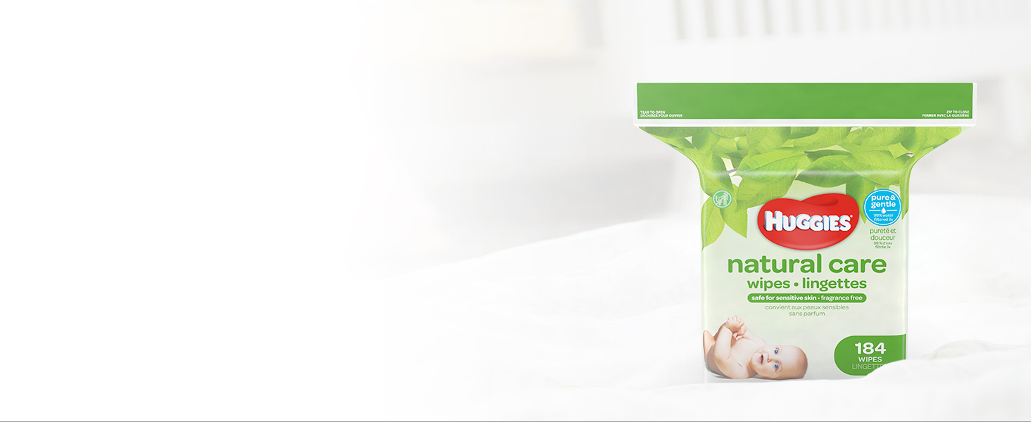 Replenish pop-up tubs and Clutch 'N' Clean bags with Huggies Wipes refill packs and boxes.