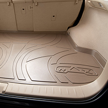 No Hybrid MAX LINER A0232//B0291//E0232 Black Floor Mats 3 Cargo Liner Behind 3rd Row Set for 2017-2019 Pacifica 7 or 8 Passenger Model