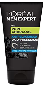 L'Oréal Men Expert, Pure Charcoal, Daily Face Scrub, Purifying Charcoal