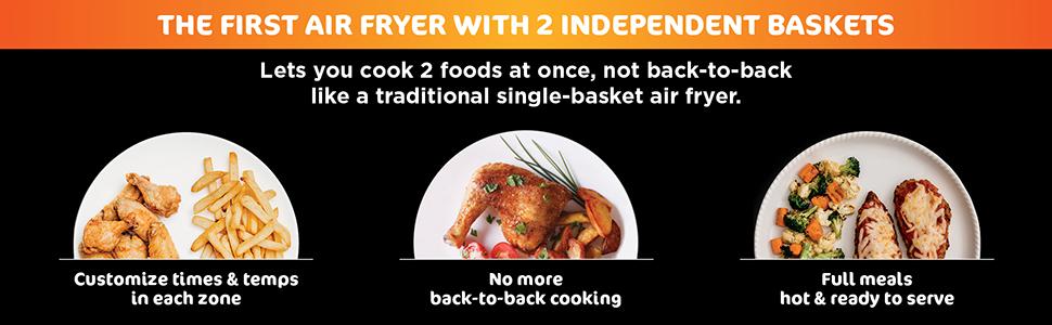 air fryer basket, air fryer chicken, family meals, quick family meals, large family meals