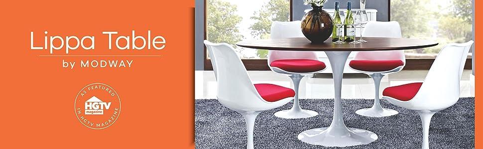 Eero Saarinen, tulip table, lexmod, white, marble, black, tulip coffee table, oval, docksta, 48, 54