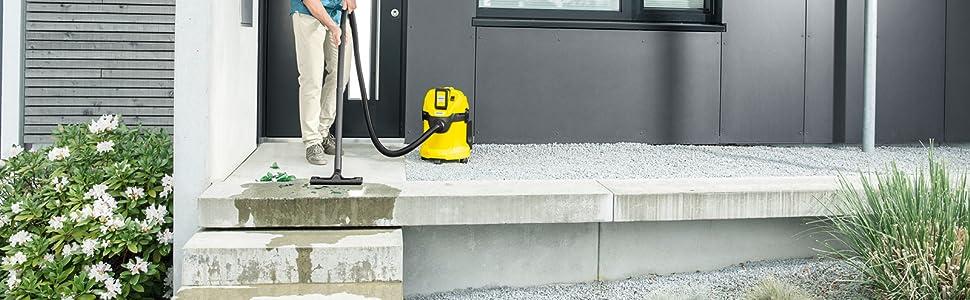 Kärcher WD 3 Battery Set - Aspirador Multiuso, 17 litros, Con batería y sin control de encendido, Plástico, Negro/Amarillo, Model Nuevo: Amazon.es: Hogar