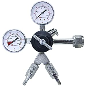 Kegco 762-2 Commercial Grade Dual Gauge Two Product Regulator