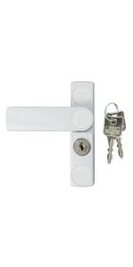 Abschlie/ßbar Beidseitig verwendbar 2 Schl/üssel Komfort-Riegel RZ 60 B SB Braun BURG-W/ÄCHTER T/ür- und Fenstersicherung