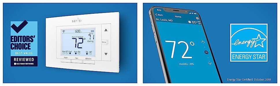 smart home, energy saving thermostat