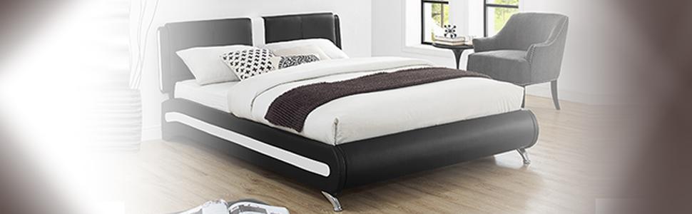 Amazon.com: Camden isla 212332 Carlton negro cama, Queen ...