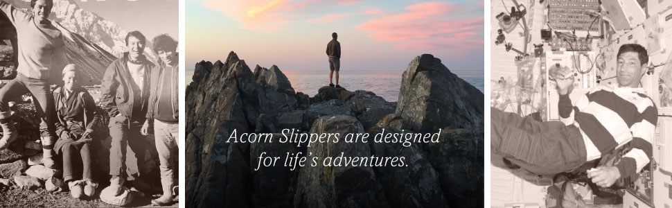 acorn, acorn slippers, acorn moc, men's slippers, slippers, hosue slippers, black slipper, spa slide
