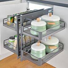easy install kitchen storage, cupboard corner storage