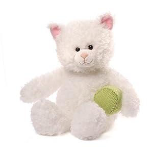 "GUND Mimi Cat with Yarn Stuffed Animal Plush, White, 13"""