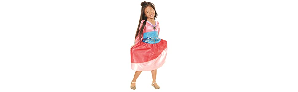 Amazon Com Disney Princess Heart Strong Mulan Dress Toys Games