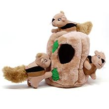 toys for medium sized dogs, medium sized dog toys, hide a squirrel dog toys
