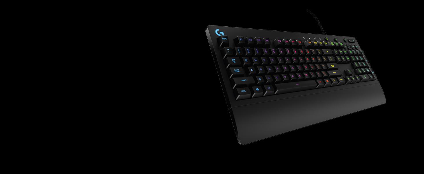 cfd54ba7031 Amazon.com: Logitech G213 Gaming Keyboard with Dedicated Media ...