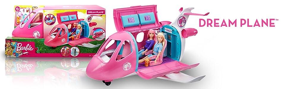 Barbie GDG76 Dreamplane Playset, Multicolour