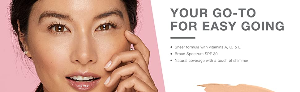Your go-to for easy going - woman wearing Neutrogena Healthy Skin Radiant Tinted Moisturizer