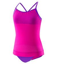 03e8815442 Amazon.com: Speedo Girls Mesh Blouson Tankini Two Piece: Sports ...