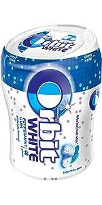 Orbit White Peppermint Sugarfree Gum Bottle