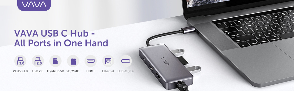 VAVA USB C Hub -All ports in one hand