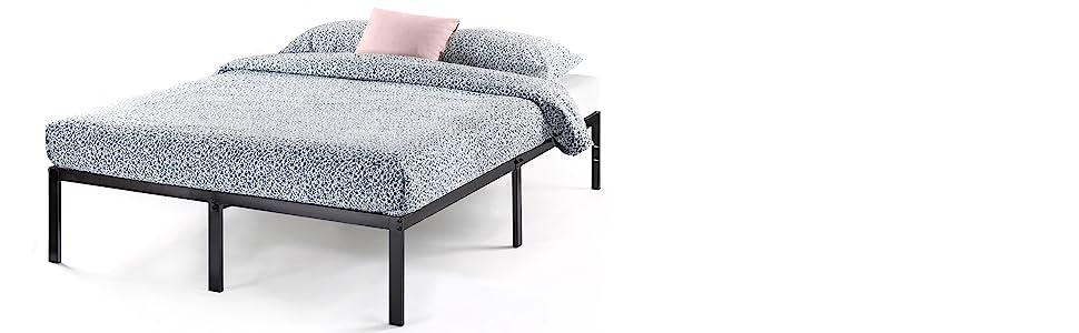 14 inch heavy duty steel slat bed frame