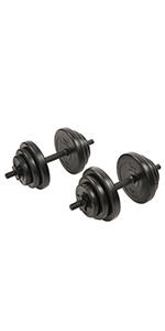 Adjustable dumbells set