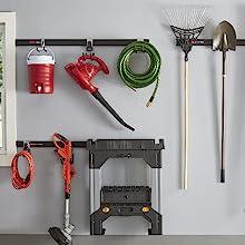 Rubbermaid fasttrack garage storage organization kit