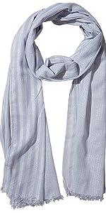 Tickled Pink Lilac Stripe light pale lavender stripes lightweight summer scarf