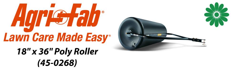 "Agri-Fab, Inc. 18"" x 36"" Poly Roller Model #45-0268"