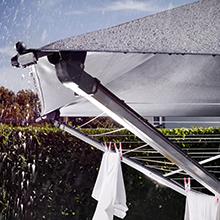 Wäschespinne Mit Dach : leifheit w scheschirm linoprotect 400 mit wasserdichtem ~ Watch28wear.com Haus und Dekorationen